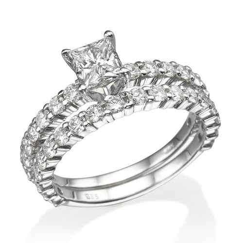 Princess Diamond Wedding Set - Diamonds Mine