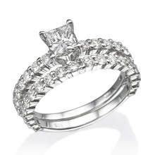Load image into Gallery viewer, Princess Diamond Wedding Set - Diamonds Mine