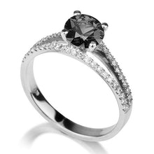 Load image into Gallery viewer, Micro Pave Black Diamond Ring - Diamonds Mine