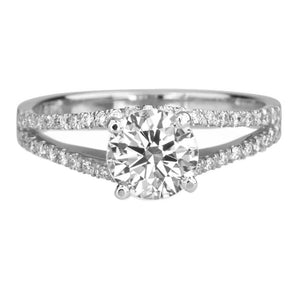 Split Shank Moissanite Engagement Ring - Diamonds Mine