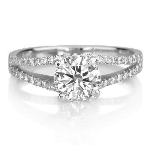 Micro Pave Diamond Engagement Ring - Diamonds Mine