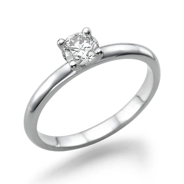 "0.3 Carat 14K White Gold Diamond ""Aurora"" Engagement Ring - Diamonds Mine"