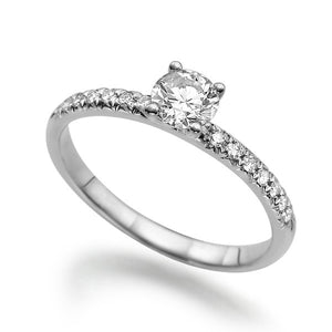 "0.44 TCW 14K White Gold Diamond ""Linda"" Engagement Ring - Diamonds Mine"