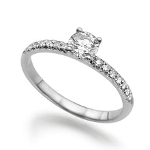 "Load image into Gallery viewer, 0.44 TCW 14K White Gold Diamond ""Linda"" Engagement Ring - Diamonds Mine"