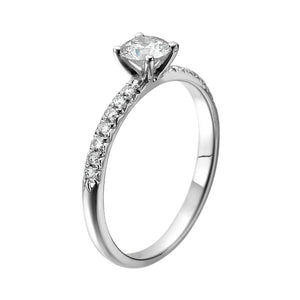 "0.7 Carat 14K White Gold Diamond ""Linda"" Engagement Ring"