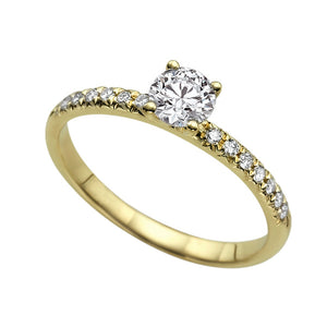 "1.1 Carat 14K Rose Gold Diamond ""Linda"" Engagement Ring"
