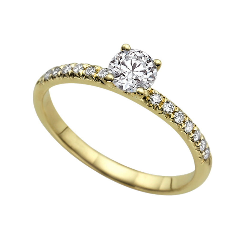 "0.44 TCW 14K Yellow Gold Diamond ""Linda"" Engagement Ring - Diamonds Mine"