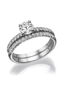 "0.62 TCW 14K White Gold Diamond ""Linda"" Wedding Set"