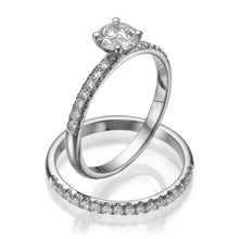 Load image into Gallery viewer, Round Moissanite Wedding Set - Diamonds Mine