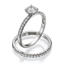 Load image into Gallery viewer, Round Cut Diamond Wedding Set - Diamonds Mine