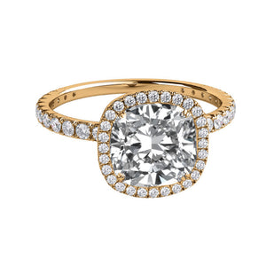 "2.5 Carat 14K Rose Gold Moissanite & Diamonds ""Madison"" Engagement Ring"