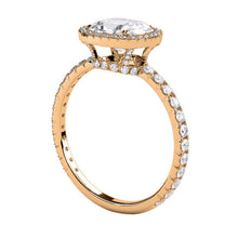 "Load image into Gallery viewer, 2.5 Carat 14K Rose Gold Moissanite & Diamonds ""Madison"" Engagement Ring"