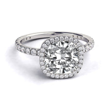 "Load image into Gallery viewer, 2.5 Carat 14K White Gold Moissanite & Diamonds ""Madison"" Engagement Ring"