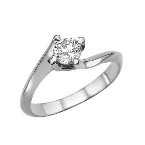 0.5 Carat 14K White Gold Moissanite