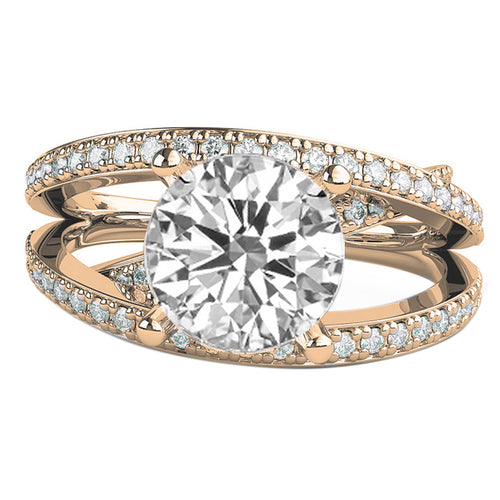 1.5 TCW 14K Rose Gold Moissanite