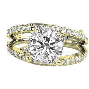 "1.5 TCW 14K Rose Gold Moissanite ""Victoria"" Engagemetn Ring"