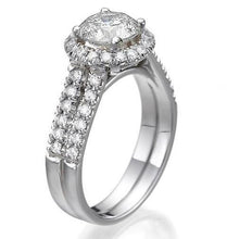 "Load image into Gallery viewer, 1.9 Carat 14K White Gold Diamond ""Deborah"" Engagement Ring"