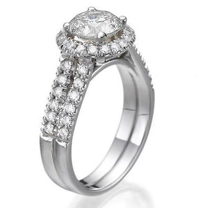 "1.9 Carat 14K White Gold Diamond ""Deborah"" Engagement Ring"