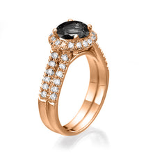 "Load image into Gallery viewer, 1.5 Carat 14K Yellow Gold Black Diamond ""Deborah"" Engagement Ring"