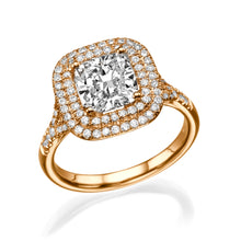 "Load image into Gallery viewer, 1.7 Carat 14K Rose Gold Diamond ""Sienna"" Engagement Ring"