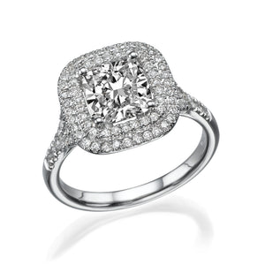 "1.7 TCW 14K White Gold Diamond ""Sienna"" Engagement Ring"