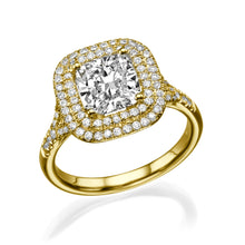 "Load image into Gallery viewer, 1.7 Carat 14K Yellow Gold Diamond ""Sienna"" Engagement Ring"
