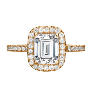 "1.3 Carat 14K Yellow Gold Moissanite & Diamonds ""Ashlee"" Engagement Ring"