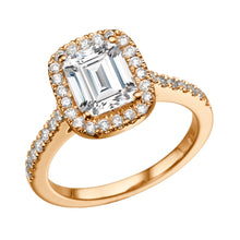 "Load image into Gallery viewer, 2.3 Carat 14K Rose Gold Moissanite & Diamonds ""Ashlee"" Engagement Ring"