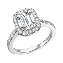 "Load image into Gallery viewer, 1.3 Carat 14K Yellow Gold Moissanite & Diamonds ""Ashlee"" Engagement Ring"