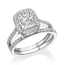 "Load image into Gallery viewer, 1 Carat 14K White Gold Diamond ""Geneva"" Wedding Set - Diamonds Mine"