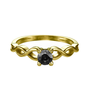 "0.5 Carat 14K Rose Gold Black Diamond ""Amelia"" Ring"