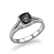 Load image into Gallery viewer, Black Diamond Split Shank Ring - Diamonds Mine