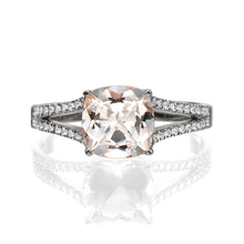 "Load image into Gallery viewer, 1.2 Carat 14K Yellow Gold Morganite & Diamonds ""Dorothy"" Engagement Ring"