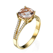 "Load image into Gallery viewer, 1.2 TCW 14K Rose Gold Morganite ""Dorothy"" Engagement Ring"