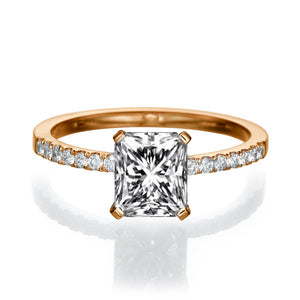 1.14 TCW 14K Rose Gold Diamond