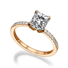 "Load image into Gallery viewer, 1.1 Carat 14K Rose Gold Diamond ""Stephanie"" Engagement Ring"