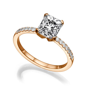 "1.1 Carat 14K Rose Gold Diamond ""Stephanie"" Engagement Ring"