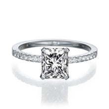 "Load image into Gallery viewer, 1.1 Carat 14K White Gold Diamond ""Stephanie"" Engagement Ring"