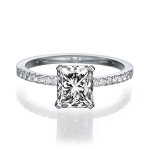 "1.1 Carat 14K White Gold Diamond ""Stephanie"" Engagement Ring"