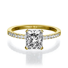 "Load image into Gallery viewer, 2.1 Carat 14K White Gold Diamond ""Stephanie"" Engagement Ring"