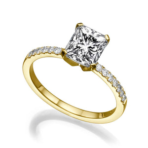 "2.1 Carat 14K White Gold Diamond ""Stephanie"" Engagement Ring"