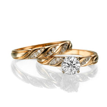 "Load image into Gallery viewer, 0.8 Carat 14K Rose Gold Diamond ""Sharon"" Wedding Set"