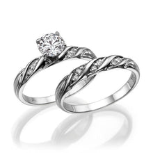 Load image into Gallery viewer, Round Moissanite Bridal Set - Diamonds Mine