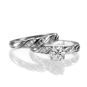 "1.1 Carat 14K White Gold Diamond ""Sharon"" Wedding Set"