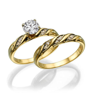 "1.6 Carat 14K Yellow Gold Diamond ""Sharon"" Wedding Set"
