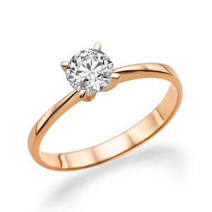 "1 Carat 14K Yellow Gold White Sapphire ""Vivian"" Engagement Ring"