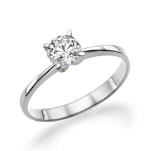 "Load image into Gallery viewer, 0.4 Carat 14K White Gold Moissanite ""Vivian"" Engagement Ring - Diamonds Mine"