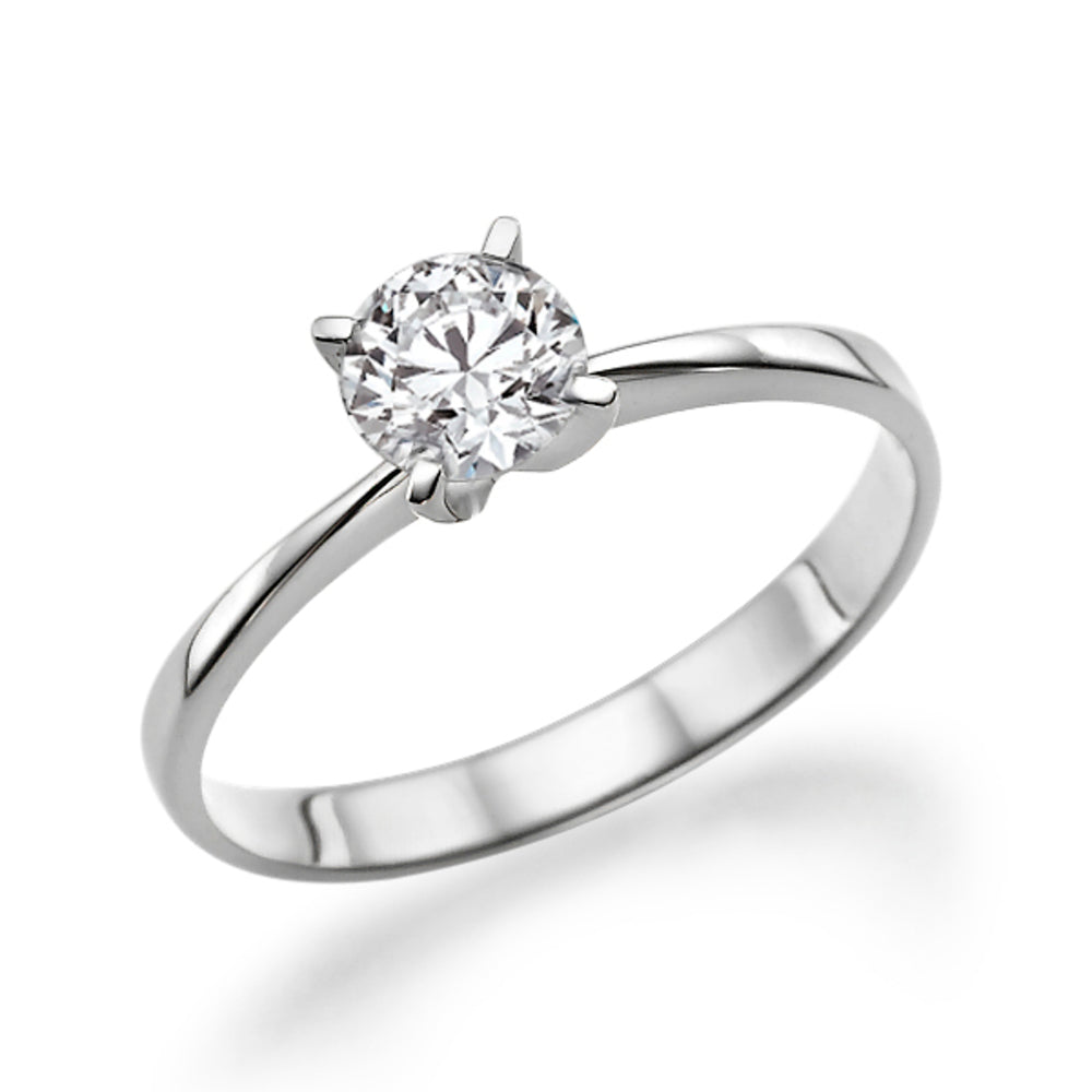 "0.4 Carat 14K White Gold Moissanite ""Vivian"" Engagement Ring - Diamonds Mine"
