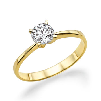0.86 Carat 14K Yellow Gold Forever One Moissanite