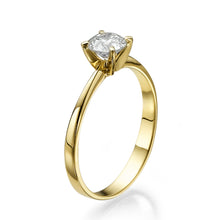 "Load image into Gallery viewer, 0.5 Carat 14K White Gold Moissanite ""Vivian"" Engagement Ring"